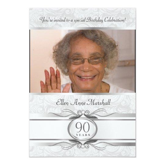 Einladungskarte 90 Geburtstag   Vorlagen, Einladungsentwurf