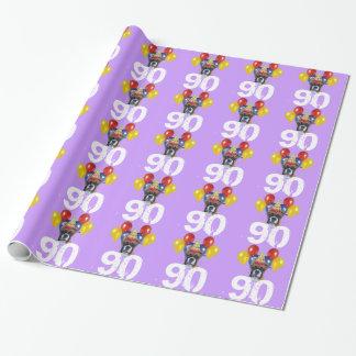 90. Geburtstags-Boxerhundelila Geschenkpapier