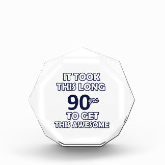 90-Geburtstags-Entwurf Acryl Auszeichnung
