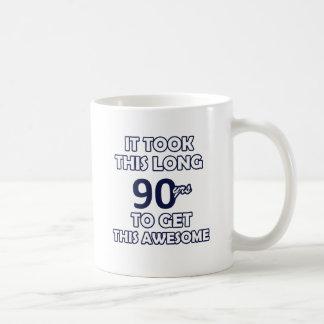 90-Geburtstags-Entwurf Kaffeetasse
