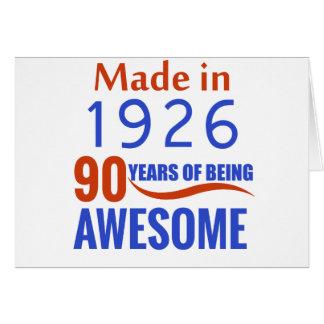 90-Geburtstags-Entwurf Karte