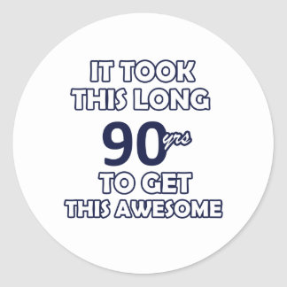 90-Geburtstags-Entwurf Runder Aufkleber