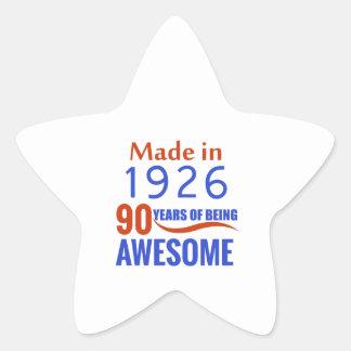 90-Geburtstags-Entwurf Stern-Aufkleber