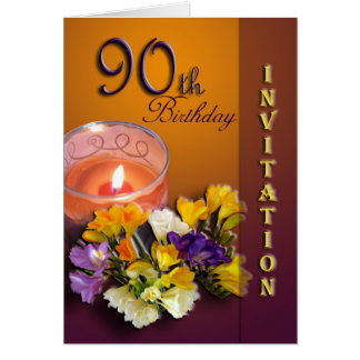 90. Geburtstags-Feier-Einladung - Freesias Karte