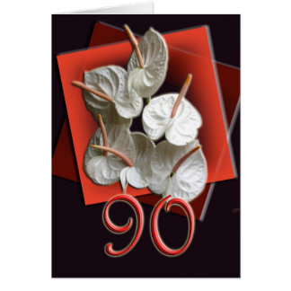 90. Geburtstags-Feier-Einladung Karte