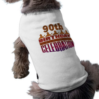 90. Geburtstags-Feier-Geschenke Ärmelfreies Hunde-Shirt