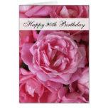 90. Geburtstags-Karte - Rosen für 90 Jahr
