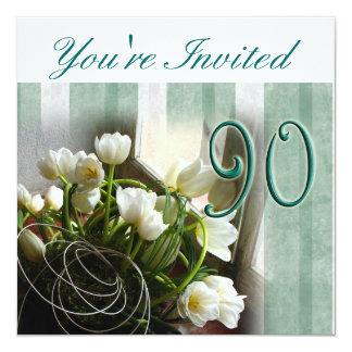 90. Geburtstags-Party Einladung - Callalilien