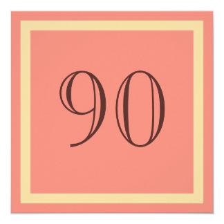 90. Geburtstags-Party Einladung - Lachskoralle
