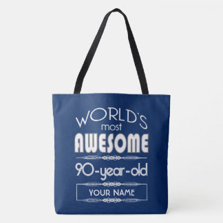 90. Geburtstags-Weltgut fabelhaftes dunkelblaues Tasche