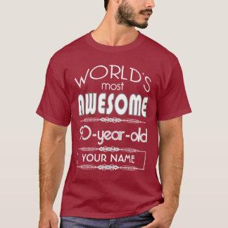 90. Geburtstags-Weltgut fabelhaftes dunkelrotes T-Shirt