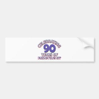 90. Geburtstagsentwürfe Autoaufkleber