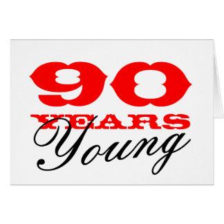 90. Geburtstagskarte für 90 Jahre junge Männer Karte