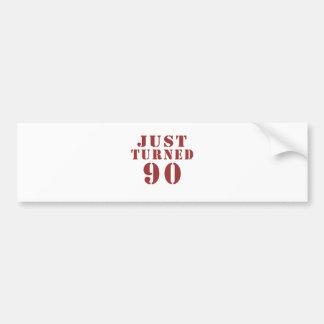 90 gerade gedreht Geburtstag Autoaufkleber
