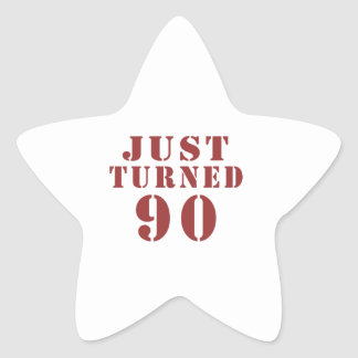 90 gerade gedreht Geburtstag Stern-Aufkleber