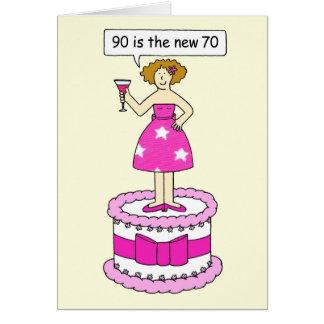 90 ist die neue Geburtstagsstimmung das Alter mit Grußkarte