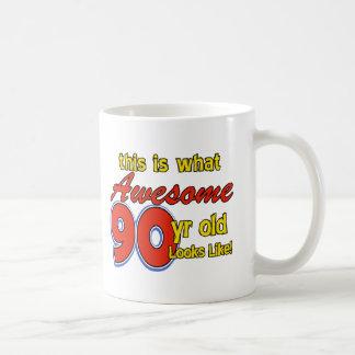 90 jährige Entwürfe Kaffeetasse