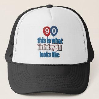 90-jährige Geburtstagsentwürfe Truckerkappe