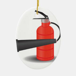 90Fire Extinguisher_rasterized Keramik Ornament