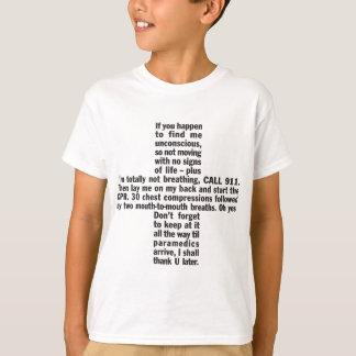 911+Der T - Shirt CPR-Kinder