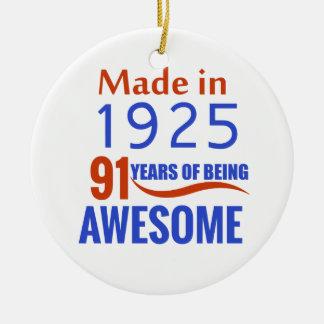 91-Geburtstags-Entwurf Rundes Keramik Ornament