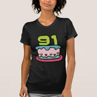 91 Jährig-Geburtstags-Kuchen T-Shirt