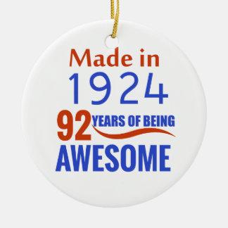 92-Geburtstags-Entwurf Rundes Keramik Ornament