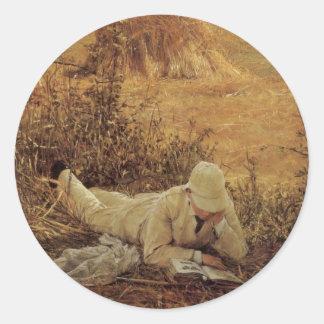 94 Grad im Schatten, Sir Lawrence Alma Tadema Runder Aufkleber