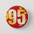 95 CHINA Gold Runder Button 5,7 Cm