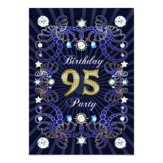 95. Geburtstags-Party laden mit Massen der Juwelen 12,7 X 17,8 Cm Einladungskarte