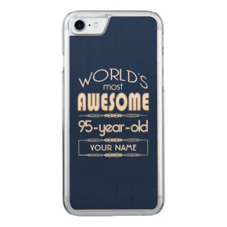 95. Geburtstags-Weltgut fabelhaftes dunkelblaues Carved iPhone 8/7 Hülle
