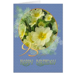 95. Geburtstagsprimeln und -BLAU Karte