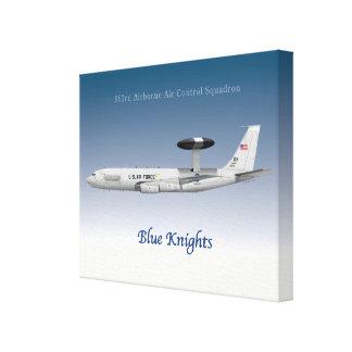 963rd Im Flugzeug Luft-Kontrollen-Geschwader E-3 Leinwanddruck