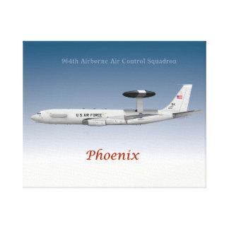 964th Im Flugzeug Luft-Kontrollen-Geschwader E-3 Leinwanddruck