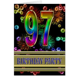 97. Geburtstags-Party Einladung