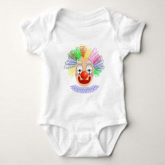 97Clown Head_rasterized Baby Strampler