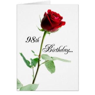 98. Geburtstags-Rote Rose Karte