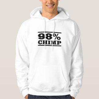 98% Schimpanse Kapuzensweater