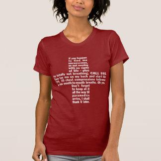 995+Der T - Shirt 2 dunkler Frauen CPR