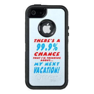 99,9% FOLGENDE FERIEN (weiß) OtterBox iPhone 5/5s/SE Hülle