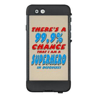 99,9% Ich bin ein SUPERHELD (Schwarzes) LifeProof NÜÜD iPhone 6 Hülle