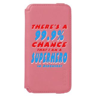 99,9% Ich bin ein SUPERHELD (weiß) Incipio Watson™ iPhone 6 Geldbörsen Hülle