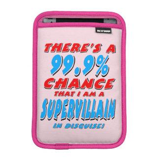 99,9% Ich bin ein SUPERschuft (Schwarzes) iPad Mini Sleeve