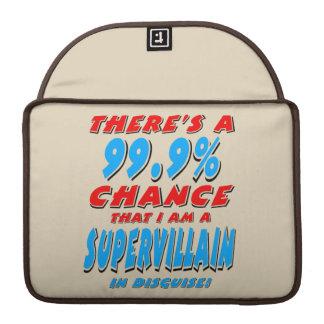 99,9% Ich bin ein SUPERschuft (Schwarzes) Sleeve Für MacBook Pro