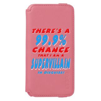 99,9% Ich bin ein SUPERschuft (weiß) Incipio Watson™ iPhone 6 Geldbörsen Hülle