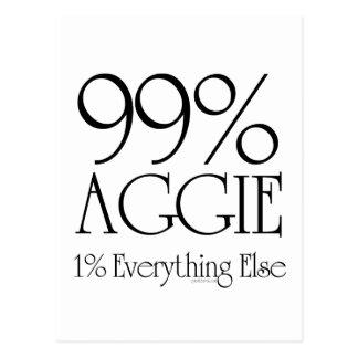 99% Aggie Postkarte