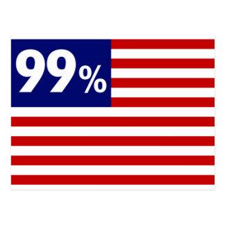 99% amerikanische Flagge - Occupy Wall Street Postkarte