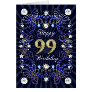 99. Geburtstagskarte mit Massen der Juwelen Karte