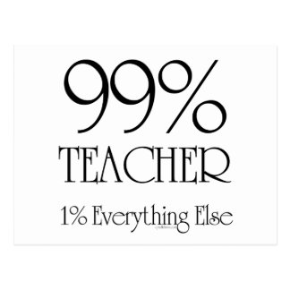 99% Lehrer Postkarte