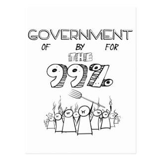 99% Occupy Wall Street-Massenbewegung Postkarte